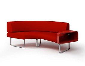 Red Modern Sofa 3D sofa
