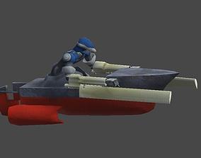 3D asset Robot boat1