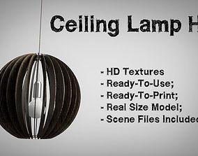 3D asset Ceiling Lamp HD Textures