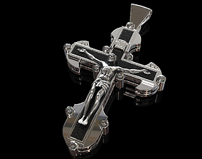 male cross 3D print model religion