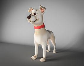 Cartoon dog 3D asset low-poly