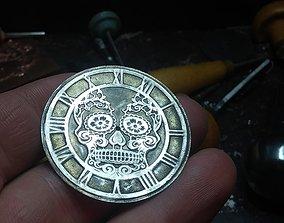 3D printable model Sugar Skull Watch Dial for enameling