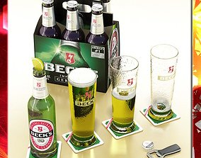 Becks Beer Collection 3D model