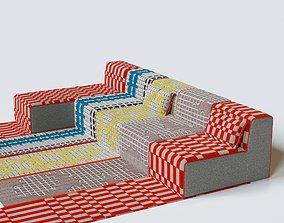 3D model GAN Bandas Space Chaise Lounges gan