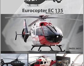 3D Eurocopter EC 135 Pack