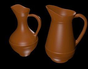 Brown jugs 3D model