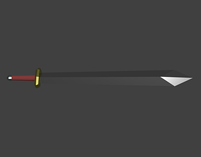 Two-Handed Sword 3D model game-ready