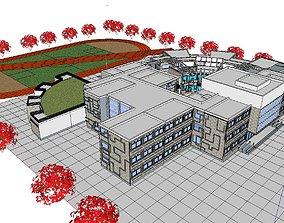 3D model Region-City-School 58