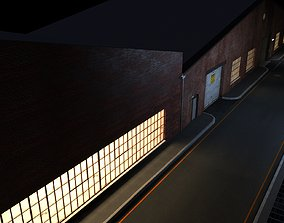 3D model Night Street Scene V-ray