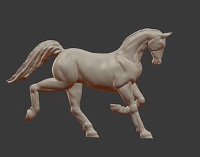 Sculpture of a running horse 3D print model