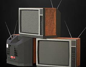 Old TV technology 3D model VR / AR ready