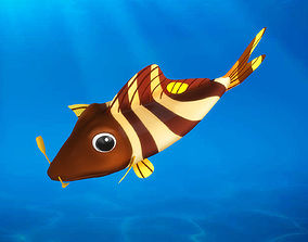 Cartoon Fish04 Rigged Animated 3D