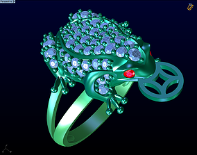 Ring the toad 3D print model