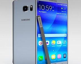 3D model Samsung Galaxy Note 5 Silver Titanium