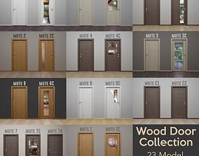 WOOD DOOR COLLECTION - Modern Interior Wood Door - 3D 3