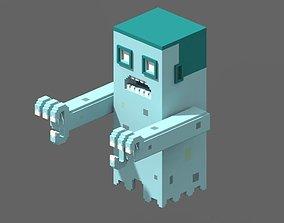 Voxel Ghost 3D model