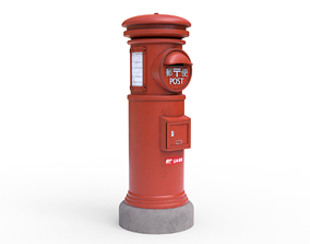 Japanese Post Box 3D asset