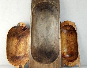 3D model Antique Dough Bowls 3