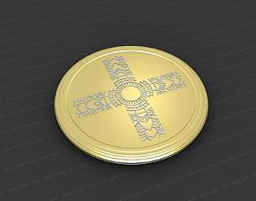 art 3D printable model Cross Medallion