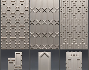 Gypsum 3D panel set 11