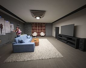 3D model sofa Home theater