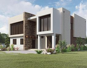 Modern house V1 3D model