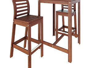IKEA APPLARO table and chairs 3D model