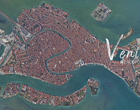 low-poly RealCities3D Venice