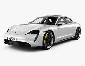 Porsche Taycan Turbo S with HQ interior 3D model