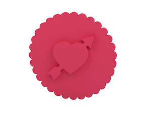 Cookie stamp - Stamp romance 3D printable model
