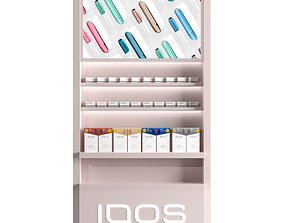 3D model Showcase for the sale of IQOS with sticks