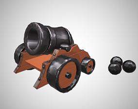3D asset Stylized cannon - PBR