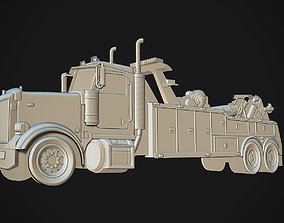 Tow Truck Bas Relief 3D print model