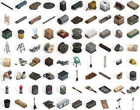 3D asset Large Construction Collections