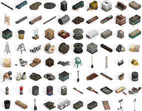 3D asset Large Construction Collections