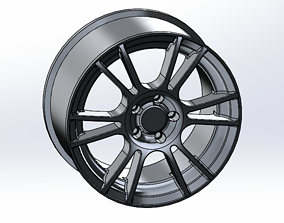 19 inch Spider Alloy Wheel 3D model