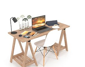 Desk set 3D model