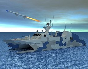 Type 022 Fast Attack Missile Craft 3D model