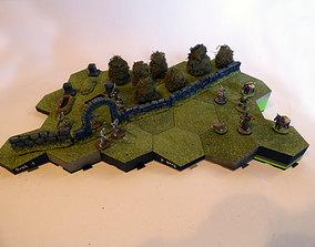 3D print model Hexagonille Terrain - Hills