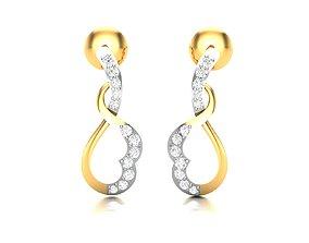 studs Women earrings 3dm render detail