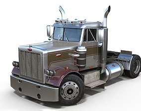3D model Peterbilt 289 day cab semi-truck