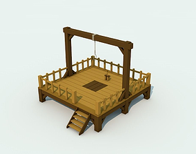 Low Poly Gallows Two 3D model