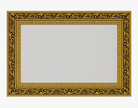 3D Frame picture gold v6