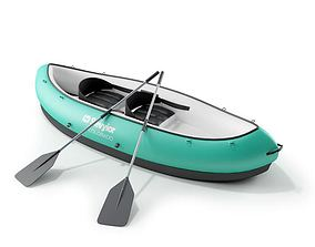 Teal Inflatable Canoe 3D