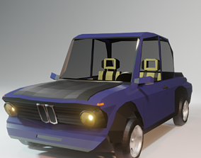 2002turbo - low poly car made under the cartoon style 3D