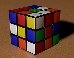 3x3 Scrambled Rubiks Cube 3D model