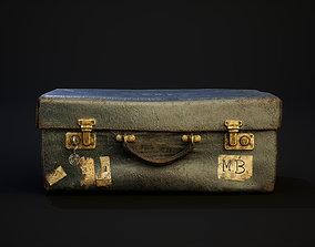 Vintage leather suitcase 3D model