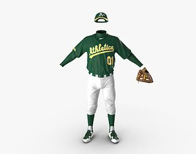 3D Baseball Player Outfit Athletics