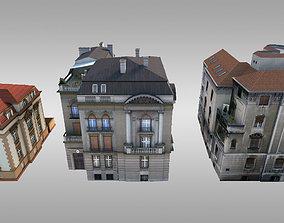 3D asset City Villas Pack