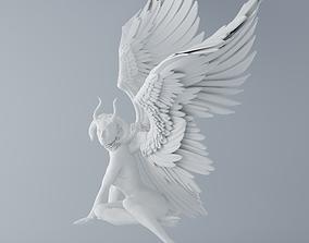 3D print model Evil angel sitting 001